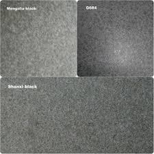 Natural Cheap Affordable Flamed Black Granite Tiles Mengolia Shanxi