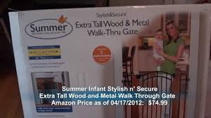 summer infant stylish n secure extra tall wood and metal walk