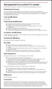 Examples Of Qualifications For Resume Management Accountant Sample Teacher Summary