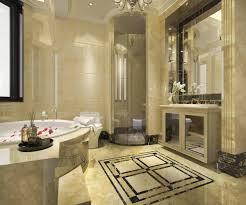 3d rendering modernes klassisches badezimmer mit luxuriösem