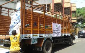 100 Brown Line Trucking Aid Travels Via India To Remote Villages Hit By Nepal Earthquake