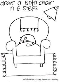 Learn To Draw This Very Cute Sofa Chair In Just 6 Steps