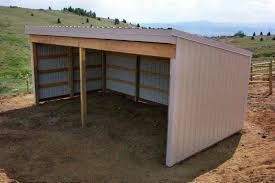How To Build A Loafing Shed Plans machine shed barn plans shed4plans