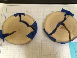 Next Take Your Pieces And Keep Them Slightly Apart Tape The Bottom Of Wood Once You Have Gaps Want