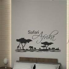 wandaufkleber wandtattoo aufkleber schlafzimmer safari