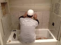 Tiling A Bathtub Surround by Installing Tile Tub Surround Round Designs