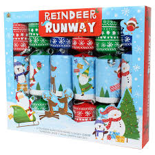 Tom Smith Fun Family Christmas CrackersNovelty Reindeer Runway