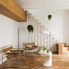 100 Parisian Interior Paris Apartment Overhauled With Slender White Staircase And