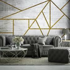 details zu vlies fototapete betonoptik geometrisch grau modern wohnzimmer loft industrial 2