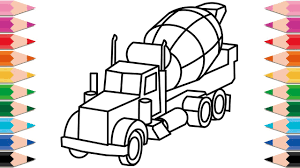 How To Draw Cement Mixer Truck For Kids Learn Colors Drawi On ... Cement Mixer_ Concrete Mixer Trucks For Kids Kids Videos Mixer Cement Mixer Truck Isolated On White Background Stock Photo Toys For Children Monster Toy Okosh Brings Revolutionr Composite Drum To Its Kid Takes A Joyride Nbc News Worlds First Phev Debuts Vehicles Artists Brilliantly Transform Into Giant Cstruction Workers Pour Mix From Yellow Parked In Fornt Of A New Building Under Russian Dashcam Video Of Falling Hole