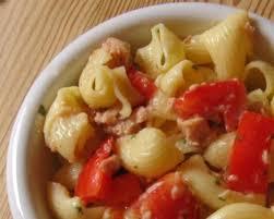 de pâtes au thon et tomates cerises