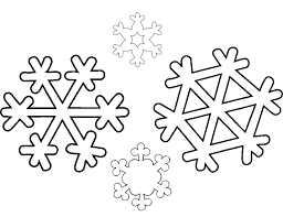 Snowflake Coloring Book Pages Snow Flakes Kids