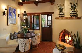 View In Gallery Mediterranean Style Dining Room With Cozy Corner Fireplace Design Mtsolem