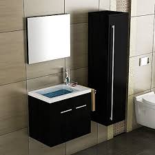 waschbecken mit unterschrank schwarz badmöbel waschtisch