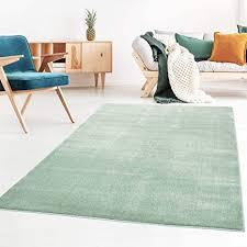 taracarpet kurzflor designer uni teppich weich fürs wohnzimmer schlafzimmer esszimmer oder kinderzimmer gala mint grün 080x150 cm