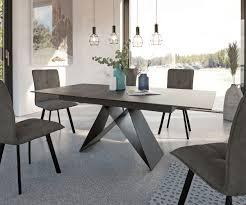 esszimmertisch davion grau keramik 160 200x90x76 cm ausziehbar