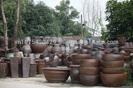 Big Black Pot Vietnam Plant Pots Garden
