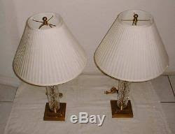 Frederick Cooper Table Lamps Brass by Pair Vintage Frederick Cooper Cut Crystal U0026 Brass Table Lamps