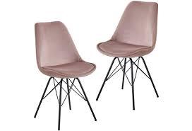 wohnling esszimmerstuhl 2er set samt rosa küchenstuhl mit schwarzen beinen schalenstuhl skandinavisches design polsterstuhl mit stoffbezug stuhl
