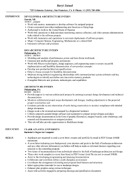 Download Architecture Intern Resume Sample As Image File
