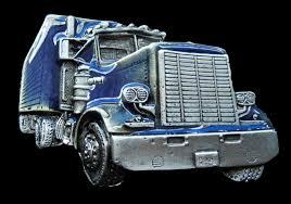 100 Truck To Trucker Blue Truck Belt Buckle