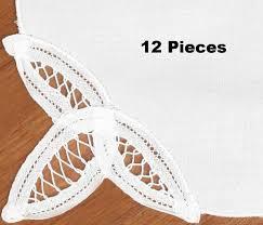 Battenburg Lace Curtains Ecru by Amazon Com Creative Linens Battenburg Lace Napkin Set White 12