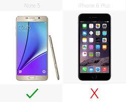 Samsung Galaxy Note 5 vs iPhone 6 Plus
