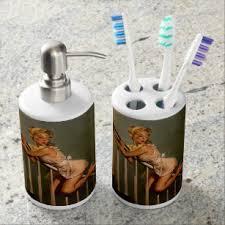 pin up bath accessory sets zazzle co nz