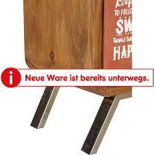 wohnling highboard aika sheesham massivholz 53x180x38 cm anrichte landhaus esszimmerschrank vitrinenschrank