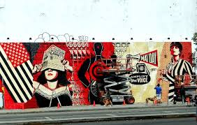 street art on the bowery and houston street wall new york