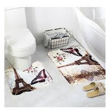 2er set toilettenmatte vorleger bodenmatte fußpolster