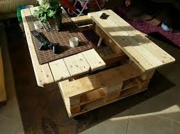 Multifunction Coffe Table With Storage Slide Out And Lift Build From Euro Pallets