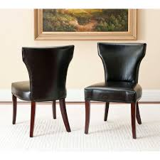 100 Black Leather Side Dining Chairs Safavieh Ryan Bicast Chair Set Of 2MCR4513B