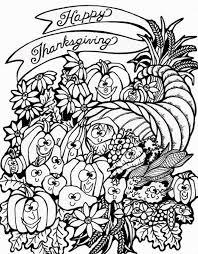 Harvest Cornucopia Thanksgiving Coloring Pages To Print