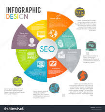 stock vector seo internet marketing infographics set with web