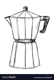 Coffee Maker Freehand Pencil Drawing Vector Image