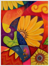 30 Creative Abstract Flower Paintings Bored Art Simple Ideas