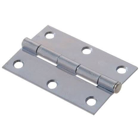 The Hillman Group Light Narrow Hinge with Removable Pin - Zinc Plated, 1""