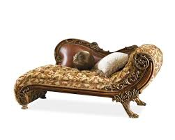 Expensive Antique Chaise Lounge Sofa Design With White Pillow And Leather Lumbar Support