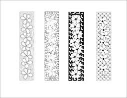 DIY Love Lines Floral Bookmarks To Print And Color Doodle Printable Coloring Page