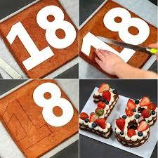 baking molds number design decoration cake pastry