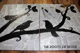 The Roots Of Design DIY Newspaper Art