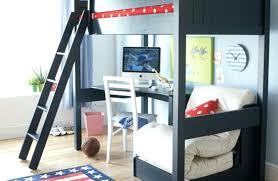 bed with desk under it simple kids bedroom black desk bunk bed and