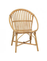 siege en rotin fauteuil en rotin naturel coquille vintage bruno rotin vintage