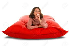 Attractive Young Woman Lying On Red Square Shaped Beanbag Sofa.. Top 10 Bean Bag Chairs Of 2019 Video Review Attractive Young Woman Lying On Red Square Shaped Beanbag Sofa Slab Red 3 Sizes Candy Chair Us 2242 41 Offlevmoon Medium Camouflage Beanbags Kids Bed For Sleeping Portable Folding Child Seat Sofa Zac Without The Fillerin Real Leather Modern Style Futon Couch Sleeper Lounge Sleep Dorm Hotel Beans Velvet Plain Collection Yogibo Family Fun Fniture 17 Best To Consider For Your Living