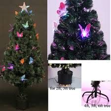 4ft Pink Pre Lit Christmas Tree by Artificial Christmas Tree Elegant Standard Led Fibre Optic Pre Lit