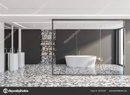 grau und mosaik badezimmer badewanne und doppelwaschbecken