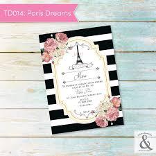 Invitación Digital TD014 Paris Dreams Brides Smiles