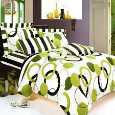 Bed Cover Sets by Blancho Bedding Artistic Green 100 Cotton 7pc Mega Duvet