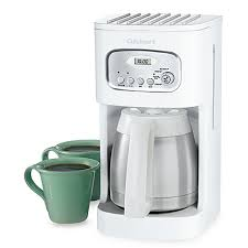 cuisinart thermal 10 cup programmable coffee maker in white bed